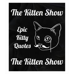 The Kitten Show Cat Quote Fleece Sherpa Throw Blanket 50x60 inch