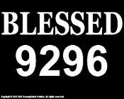 New Custom Screen Printed Tshirt Blessed 9296 Baseball Small - 4