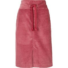 Isabel Marant Rockwell corduroy skirt (5.757.365 IDR) ❤ liked on Polyvore featuring skirts, twist skirt, isabel marant, isabel marant skirt, corduroy skirt and red skirt