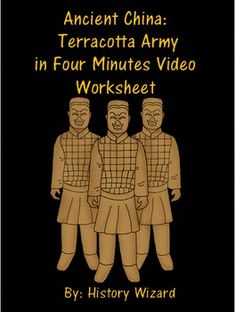 Ancient China: Terracotta Army in Four Minutes Video Worksheet Asian Crafts, Chinese Crafts, Chinese Art, Chinese New Year Kids, Learn Chinese, Terracotta Army, Chinese Emperor, I Love School, 6th Grade Social Studies