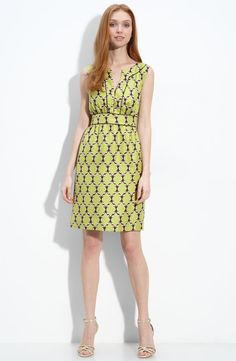 If you can spring for this price tag, awesome color and print!  kate spade new york 'marie' silk dress  $395.00