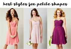 Best Bridesmaid Dress Styles for Petite Shapes