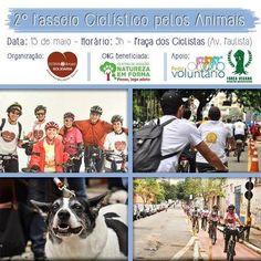 BONDE DA BARDOT: 2º Passeio Ciclístico Pelos Animais em prol das ONGs Bendita Adoção e Associação Natureza em Forma, em São Paulo (15/05)