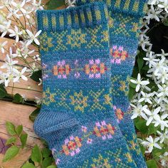 Ravelry: Project Gallery for Evening Rose Socks pattern by Mary Jane Mucklestone