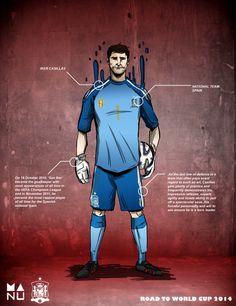 Casillas 01 620x805 Fifa World Cup 2014 Amazing Football Player Illustrations