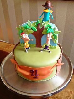 Too Sweeties Bake Shoppe.. Phineas and Ferb cake.