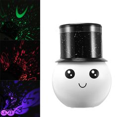 Protable USB Romantic Star Projector Lamp Rechargeable Night Light Lover Birthday Gift