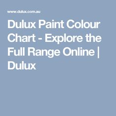Dulux Paint Colour Chart - Explore the Full Range Online | Dulux