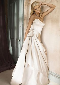 Gone are the days when a wedding dress needs to be princess style, slim line dresses can still be magical. www.dress2sale.com