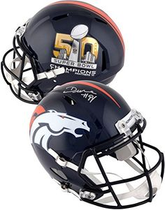 DeMarcus Ware Denver Broncos Autographed Riddell Super Bowl 50 Champions Replica Helmet  Fanatics Authentic Certified >>> Continue to the product at the image link. (This is an affiliate link and I receive a commission for the sales)