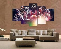 Michael Jordan Abstract Canvas Painting