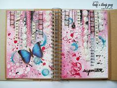 Art Journal Spread by JaMajka Journal D'art, Creative Journal, Art Journal Pages, Art Journals, Bullet Journal, Mixed Media Journal, Mixed Media Collage, Mixed Media Canvas, Mix Media