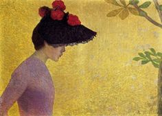 Aristide Maillol (French artist, 1861-1944) Profile of a Young Woman 1890