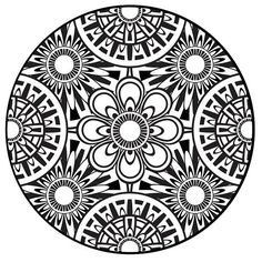 Coloring Page, Mandala, Instant PDF Download, Printable Coloring Page, Mandala Art, Zentangle, Black and White Art, Adult Coloring: