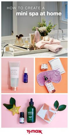 """Everyone deserves a little pampering. Bring the spa to you and relax on a budget when you shop at T.J.Maxx. Stock up on face masks, lotions, essential oils and other spa necessities, and ring in the year with some much needed """"me"""" time."""