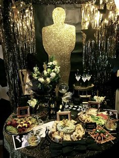 Party food display at an Oscar party! See more party planning ideas at CatchMyParty.com!