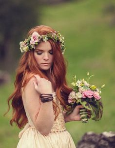 Цветочное вдохновение: Свадебные венки (часть вторая)