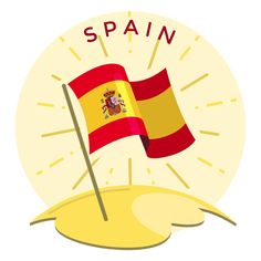 Layout Template, Logo Templates, Spain Flag, Spain Travel Guide, Flag Logo, Electronic Media, Shirt Maker, Create A Logo, Your Cards