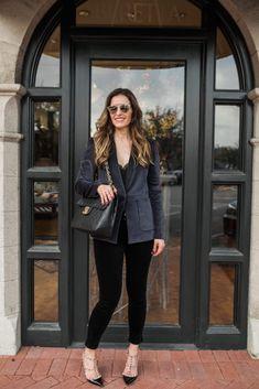 Street Style Squad | Dallas Fashion Blogger | GORGEOUS GREY VELVET BLAZER | https://www.streetstylesquad.com