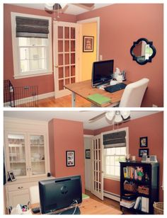 small home office - chic and cheery