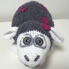 Crochet Pattern Sheep Violet Amigurumi PDF Cute Grey Sheep