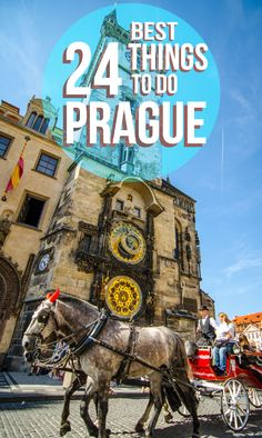 pinterest image with text on it things to do in Prague