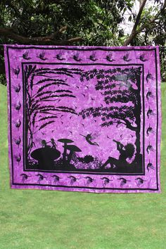 Magical Fairyland Purple Tapestry