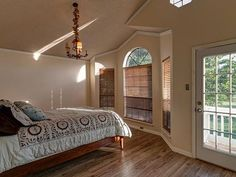 Enjoy a private balcony overlooking the lovely view from the master bedroom.