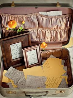 Make your guest book a big deal.  Give guests cards to fill out and drop in a suitcase as they exit the reception.  You could also make tags that guests can sign and hang from a tree, or set up a booth with props to make a video guest book.