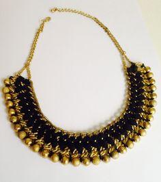Statement Kette, gold schwarz von Brittneys auf DaWanda.com