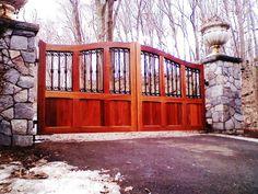 Wood Automated Driveway Gate
