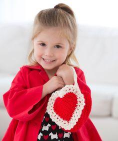Here's My Heart Gift Bag Crochet Pattern | Red Heart