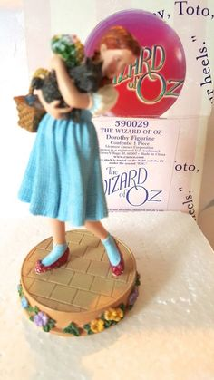 "The Wizard of Oz Dorothy Toto Judy Garland Figurine #590029 Enesco NIP 4"" tall #Enesco #WizardofOz"