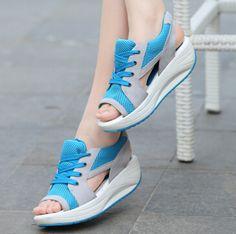 $25.88 (Buy here: https://alitems.com/g/1e8d114494ebda23ff8b16525dc3e8/?i=5&ulp=https%3A%2F%2Fwww.aliexpress.com%2Fitem%2Fsandales-sandalias-Summer-new-fish-head-sandals-Women-s-shoes-slope-with-platform-muffin%2F2013676384.html ) sandales sandalias Summer new fish head sandals Women's shoes slope with platform  muffin for just $25.88