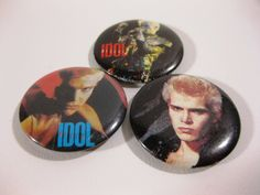 80s band buttons