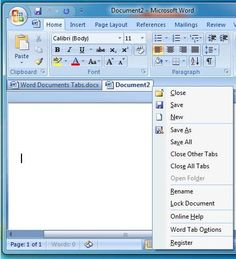 How To Add Tabbed Documents To Microsoft Word