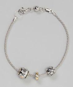 Sterling Silver Gold Bead Bracelet Pandora Like Bracelets Making Beads