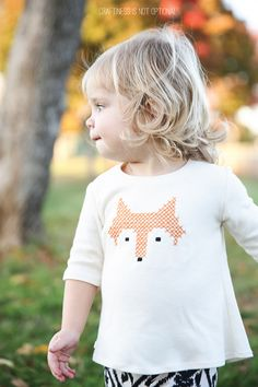 little fox free cross stitch pattern and tutorial