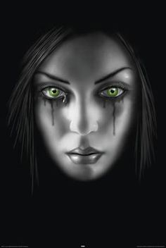 Sad face by Anne Stokes