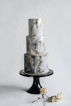 amazing wedding cakes marble wedding cakes Aissa and Kevins mixed metal/concrete effect wedding cake. You are in the right place about Wedding Cake vintage Here we of Beautiful Wedding Cakes, Beautiful Cakes, Amazing Cakes, Grey Wedding Cakes, Gold Wedding, Floral Wedding, Unusual Wedding Cakes, Metallic Wedding Cakes, Crazy Wedding