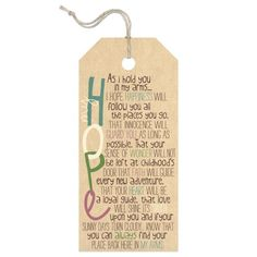 My Hope Large Tag Sign