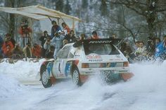 Juha Kankkunen ripping it up in the Peugeot 205T16