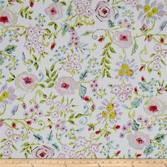 Meadow Primose Pink from @fabricdotcom  Designed by Dena Designs for Free Spirit Fabric, this cotton print collection is perfect for quilting, apparel, and home decor accents. Colors include white, green, pink, blue, and cream.
