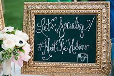 pretty social sign | Lauren Friday #wedding