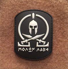 Spartan MOLON LABE Rectangle PVC Morale Patch