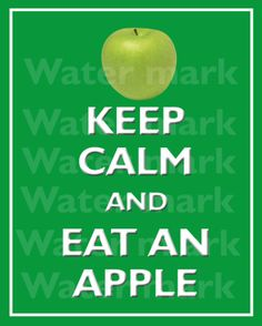 Wall art print 8x10 KEEP CALM And Eat An APPLE Quote art by PosterPrintNation, $8.99