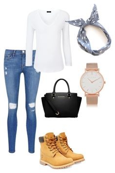 """Untitled #6"" by dannikate ❤ liked on Polyvore featuring Timberland, Frame Denim, Joseph, MICHAEL Michael Kors, Larsson & Jennings, women's clothing, women's fashion, women, female and woman"