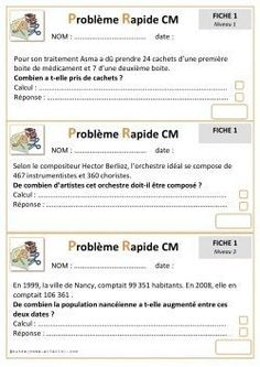Problemes Rapides Cycle 3