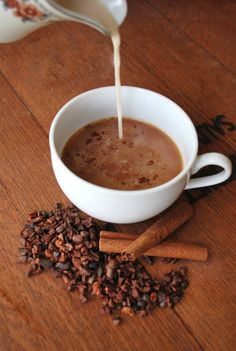 Caribbean Cacao Tea - I just need to find where to buy cacao nibs because this sounds absolutely delicious! Cacao Recipes, Tea Recipes, Cocao Nibs, Raw Cacao Nibs, Caribbean Drinks, Caribbean Recipes, Caribbean Food, Cocoa Drink, Breakfast