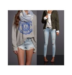 I love these 2 outfits from Abercrombie and Fitch ❤